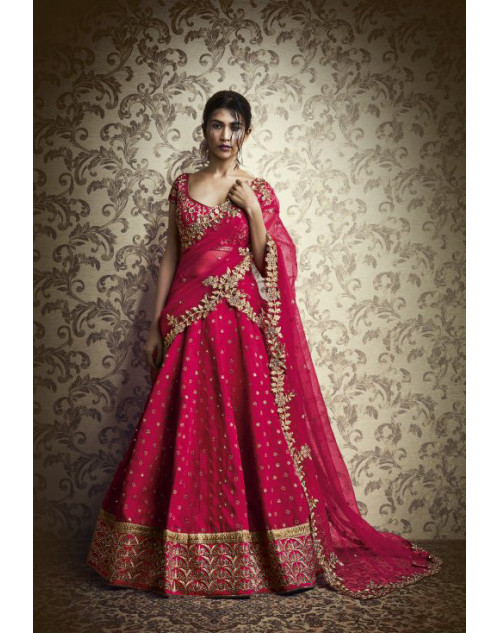 Designer DeepPink Embroidered Lehenga Choli