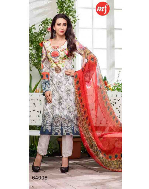 Karishma Kapoor White and Black Pakistani Style Suit