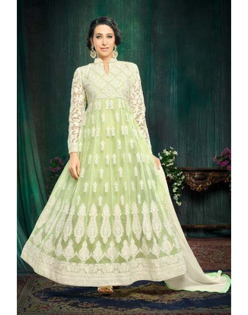 Karishma Kapoor LightGreen Georgette And Net Salwar Kameez