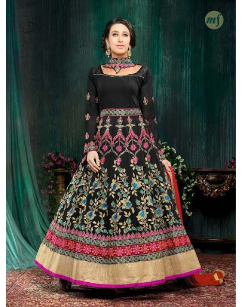 Karishma Kapoor Black Georgette And Net Salwar Kameez