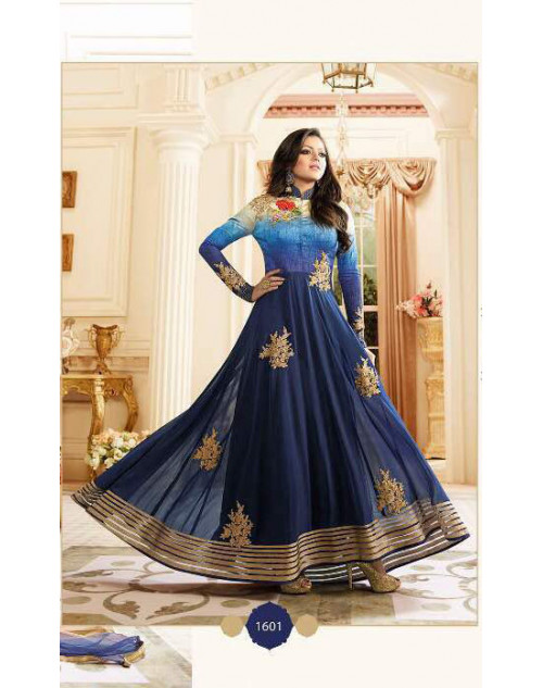 Drashti Dhami as Madhubala Latest Blue Vaishnavi Georgette Salwar Kameez