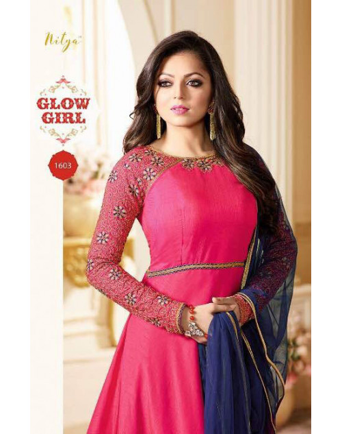 Drashti Dhami as Madhubala Latest Pink Pure Silk Salwar Kameez