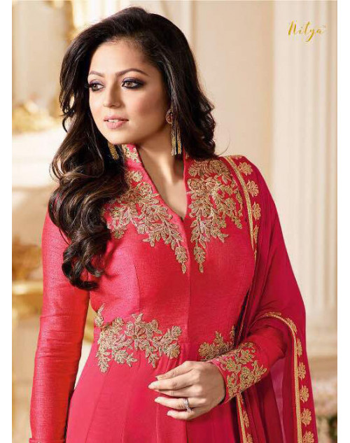 Drashti Dhami as Madhubala Latest Red Vaishnavi Georgette Salwar Kameez