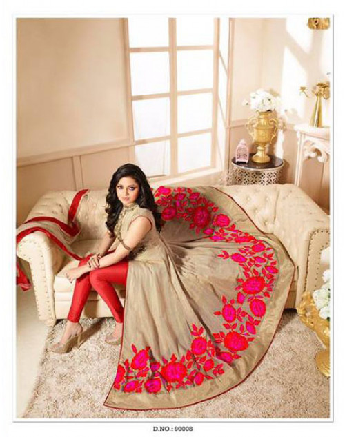 Drashti Dhami as Madhubala Moccasin Designer Super Silk Dress Materials