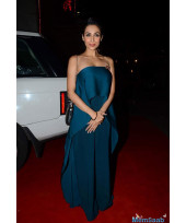 Malaika Arora Khan in Navy Blue Outfit Dress at a Launch Gym
