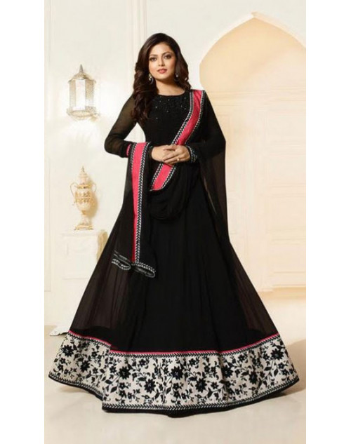 Madhubala as Drashti Dhami Black Designer Georgette Suit