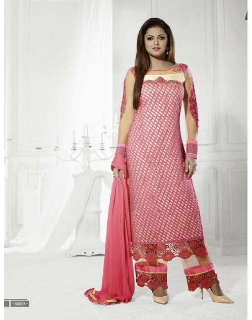 LT Vol. 68 - Pink Designer Georgette Suit