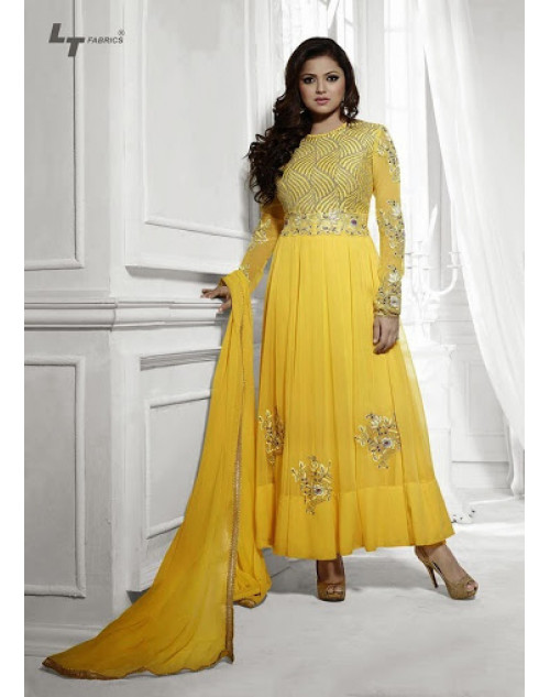 LT Vol. 68 - Yellow Designer Georgette Suit