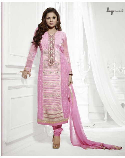 LT Vol. 68 - Light Pink Designer Georgette Suit