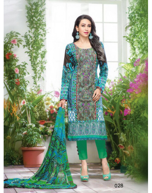 Karishma Kapoor Multi And Green Salwar Kameez