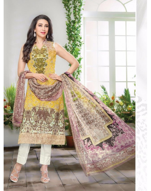 Karishma Kapoor Multi And LightYellow Salwar Kameez
