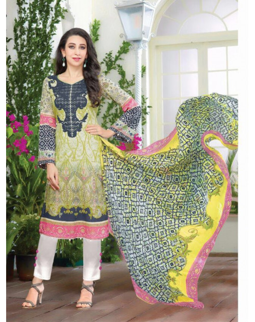 Karishma Kapoor Multi And White Salwar Kameez