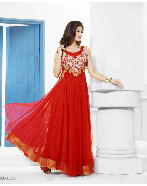 Zopim Dark Red Wedding Gown