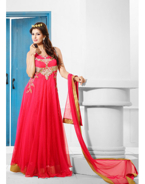 Zopim Dark Pink Wedding Gown