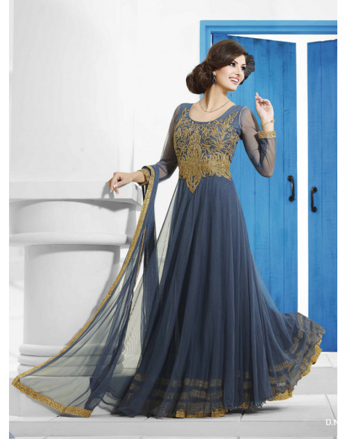 Zopim Navy Blue Wedding Gown