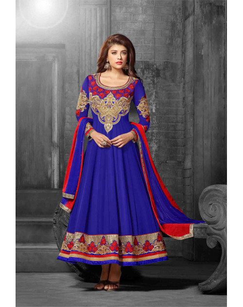 Blue Semi Stitch Salwar Kamiz