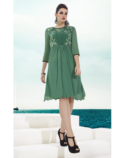 Light Green Georgette Kurtis