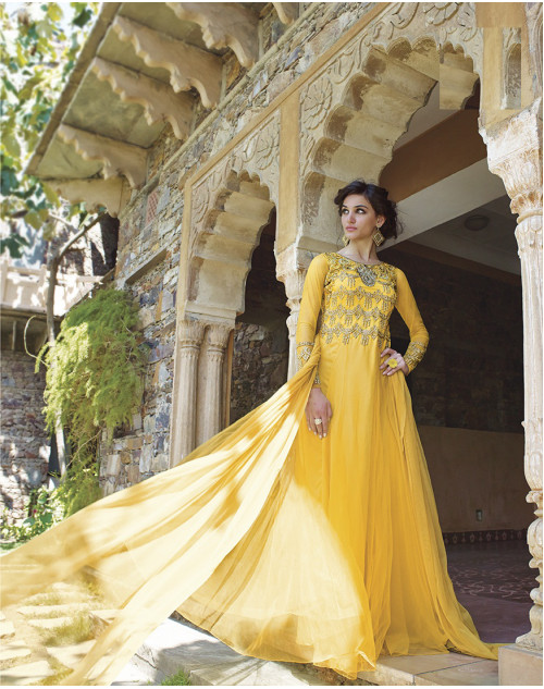 Yellow Bollywood Gown