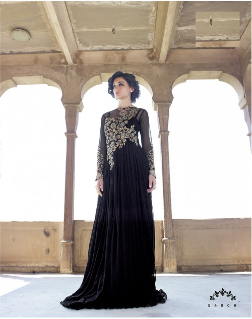 Black Bollywood Gown