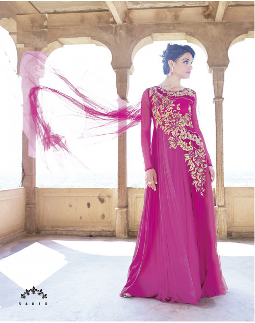 DeepPink Bollywood Gown