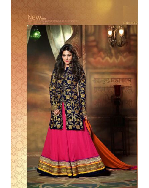 Chitrangada Singh Black and Pink Readymade Suit