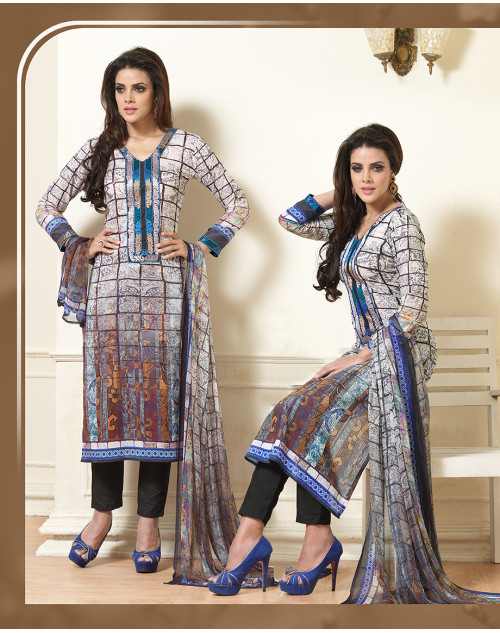 White Pure Lawn Cotton Salwar Kamiz