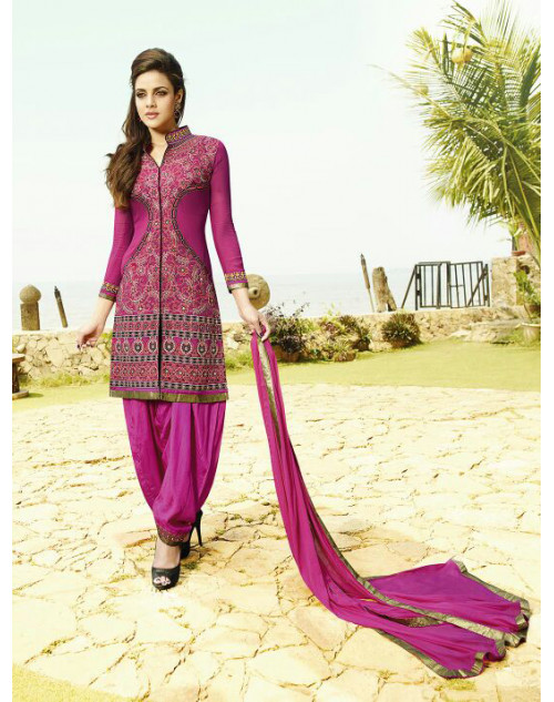 Purple Georgette Salwar Kamiz