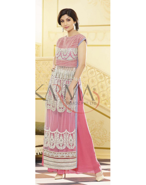 Shilpa Shetty Light pink Salwar Kamiz
