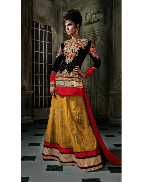 Black Stitch Designer Lehenga Choli