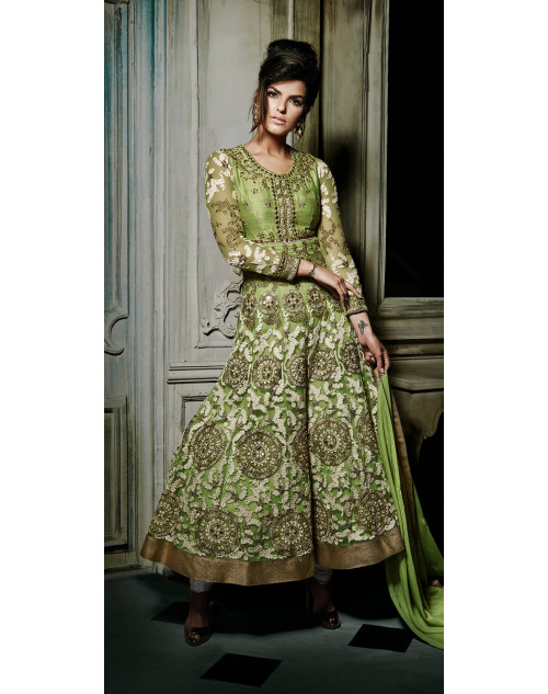 Sea Green Stitch Designer Salwar Kamiz