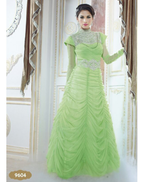 Light Green Unique Gown