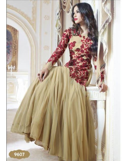 Red and Wheat Classic Gown