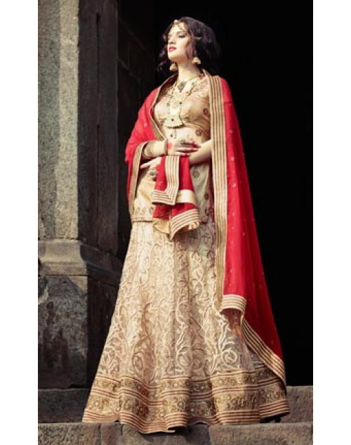 Moccasin Heavy Designer Wedding Lehenga Choli