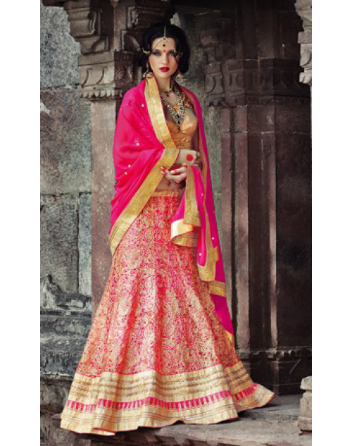 Pink Heavy Designer Wedding Lehenga Choli