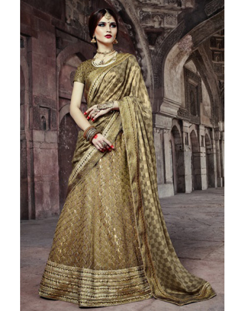 Olive Heavy Designer Wedding Lehenga Choli