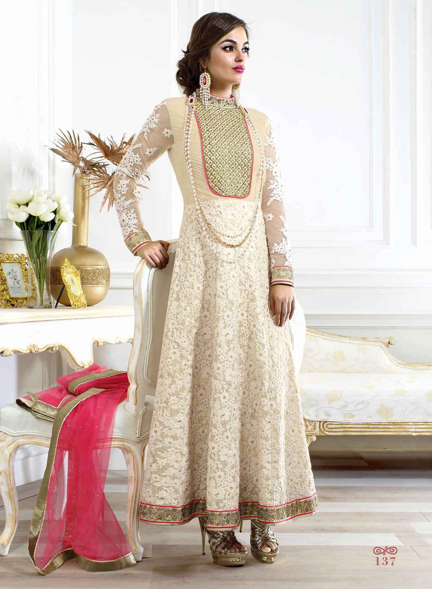 67cb78b9b5acfc Click on Photo. Sale Off-white Georgette Salwar Suit