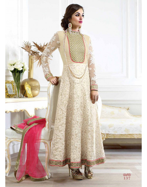 Off-white Georgette Salwar Suit