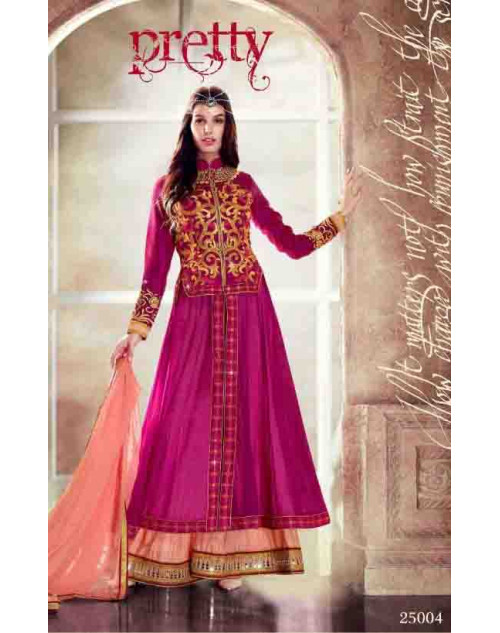 Pink Faux Georgette Dress Materials