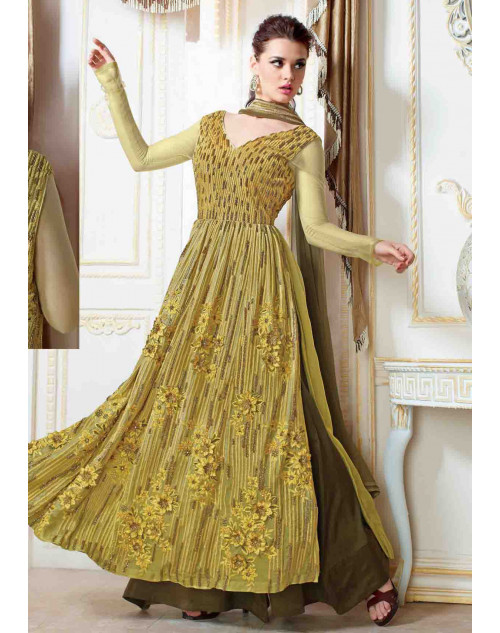Green Georgette With Embroidery Salwar Kamiz