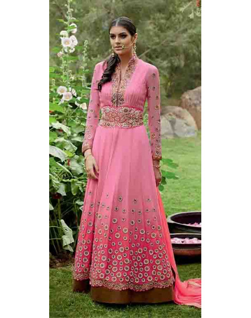 Pink Pure Georgette Suit