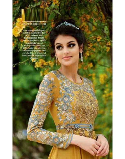 GoldenRod Pure Georgette Suit