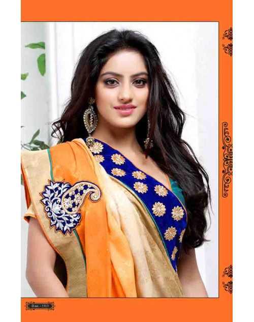 Deepika Singh Gold and Burlywood Saree