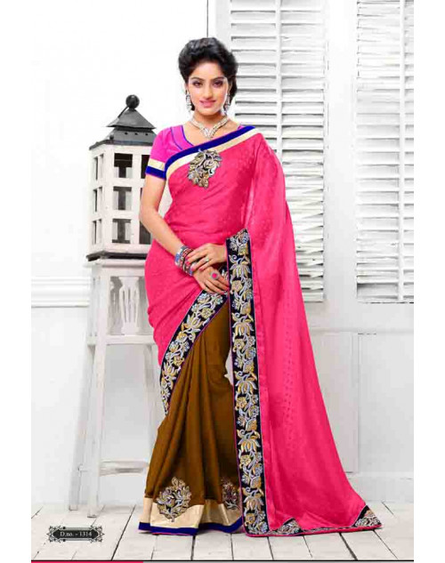 Deepika Singh Pink and Olive Saree
