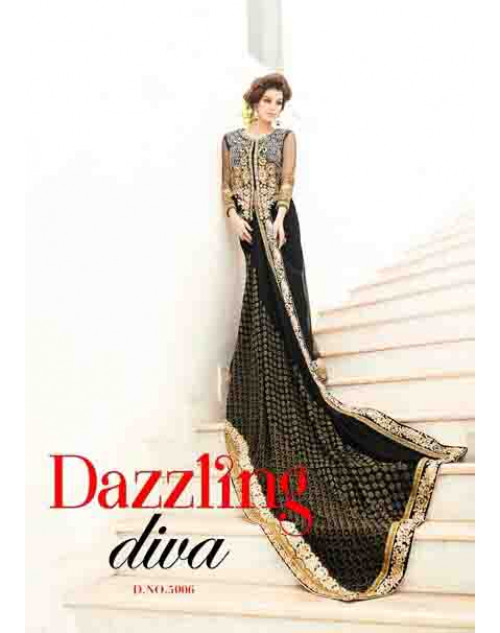 Designer Black Viscose and Net Saree