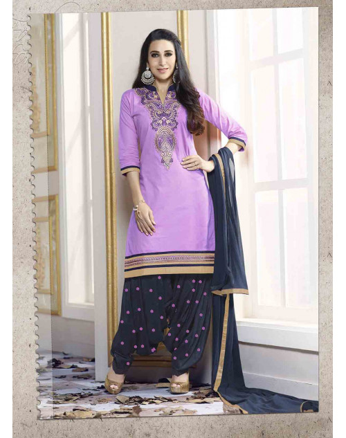 Karishma Kapoor Purple Pure Cotton Salwar Kameez