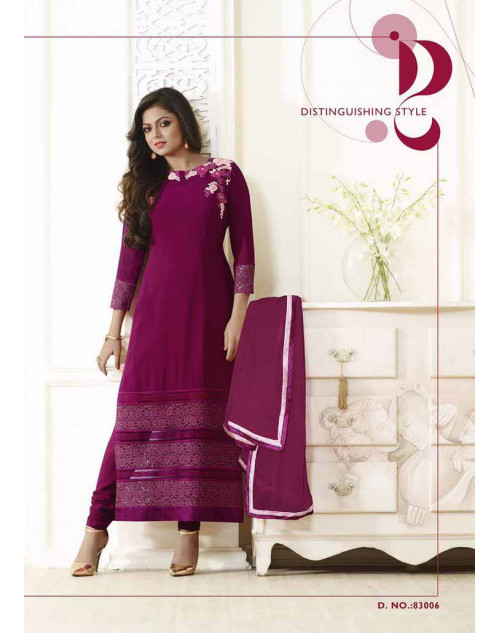 Madhubala as Drashti Dhami Purple Vaishnavi Georgette Designer Suit