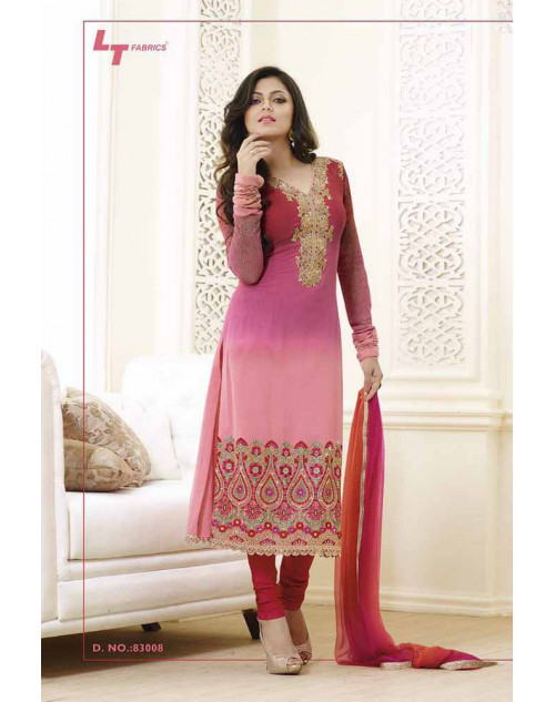 Madhubala as Drashti Dhami Pink And Maroon Vaishnavi Georgette Designer Suit