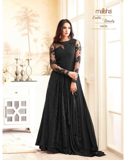 Sonal Chahuhan Latest Georgette Function Wear Black Designer Salwar Kameez