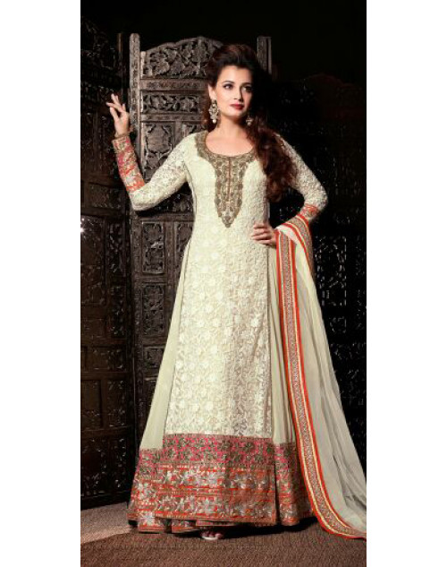 Dia Mirza Designer White Wedding Suit