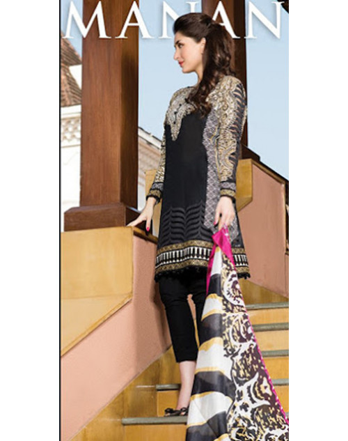 Kareena Kapoor Khan Black Lawn Suit